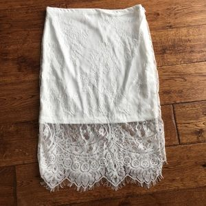 Dresses & Skirts - NEW white lace skirt (matching top see other post)
